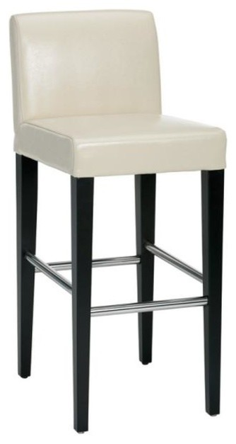 Lower Back Leather Stool Transitional Bar Stools And