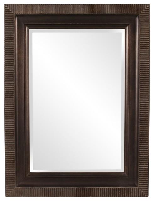 Dana Bronze Small Mirror Contemporary