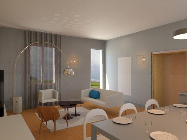 Cette image montre un salon design.
