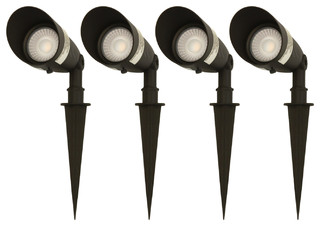 4W LED Aluminum Outdoor Landscape Spotlight, Set of 4, Cool White 4000k
