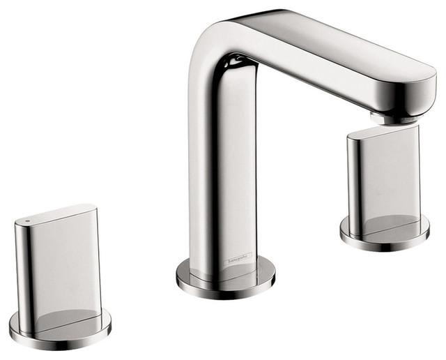hansgrohe metris s chrome widespread 1 5 gpm bathroom