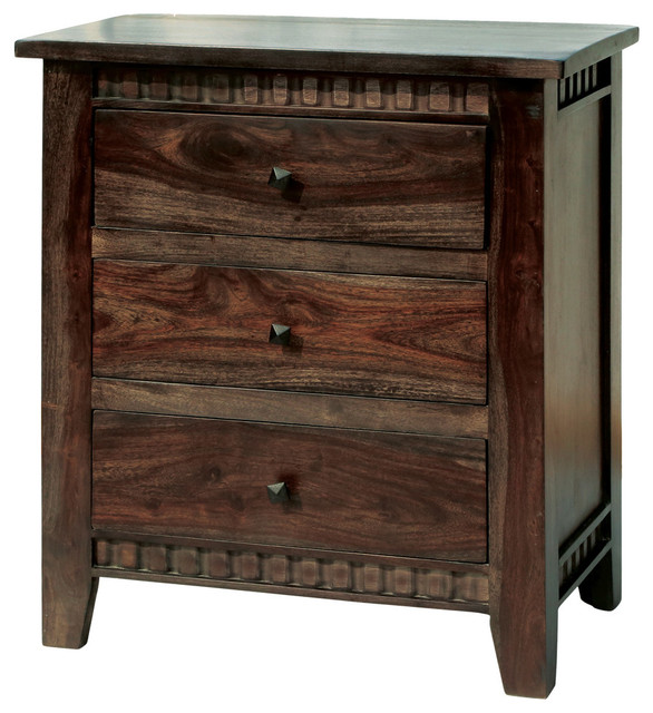 Paloma Mosaic Coffee Table: Melvin 3 Drawer Nightstand