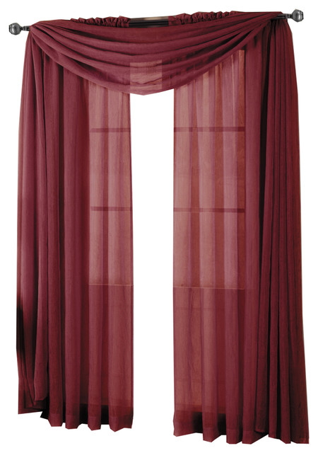 2b76c3f41a7 Abri Rod Pocket Sheer Curtain Panel - Traditional - Curtains - by Wholesale  Beddings
