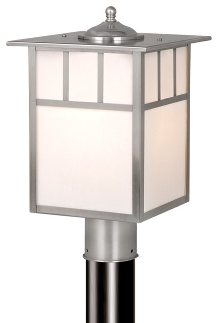 "Mission 9"" Outdoor Post Light, Stainless Steel/tiffany."