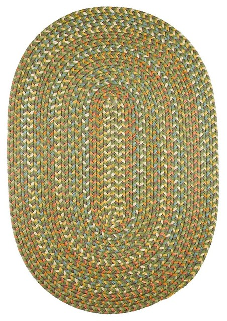 Olive Rug Textured Braided Farmhouse Area Rugs By