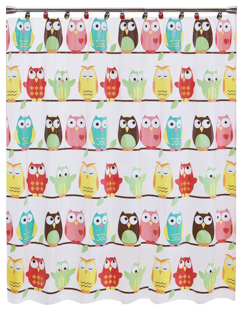 Owl Shower Curtain Rustic Shower Curtains