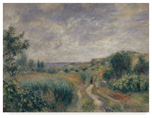 """landscape Near Essoyes 1892 "" By Pierre Auguste Renoir, Canvas Art."
