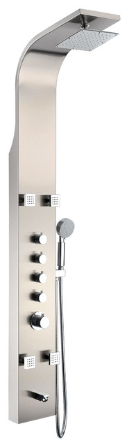 ANZZI Echo 63.5 in. 4-Jetted Heavy Rain Shower Panel and Spray Wand