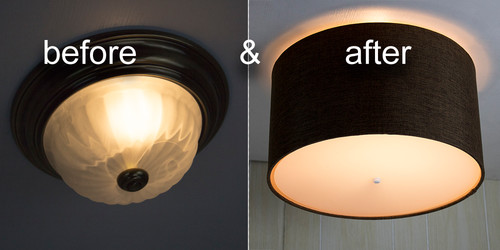 Flush mount conversion replacing ugly ceiling lights for How to install a flush mount ceiling light youtube