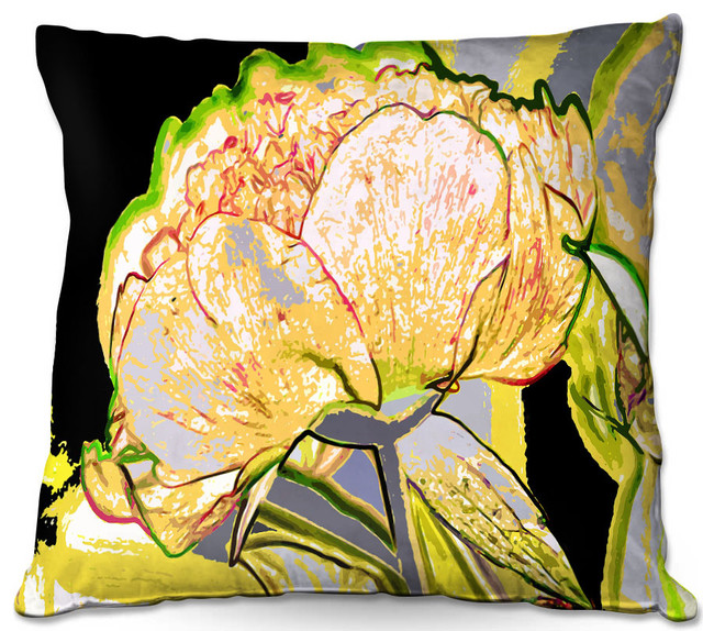 Today Flower Yellow Outdoor Pillow 20 X20
