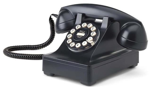 Retro Desk Phone in Black