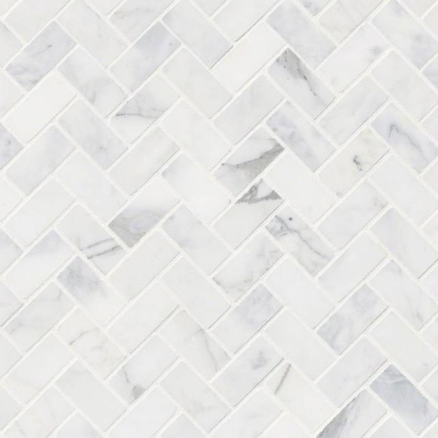 Decorative Calacatta Cressa Herringbone Honed, Marble,