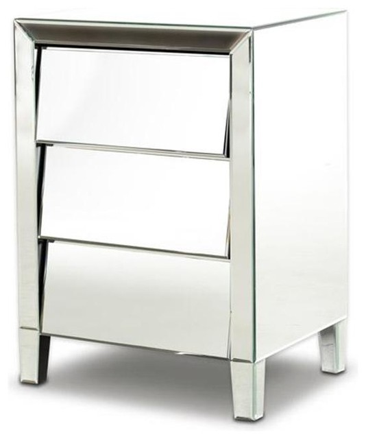 Vig modrest roanoke modern mirrored bedroom furniture for Contemporary dressers and nightstands