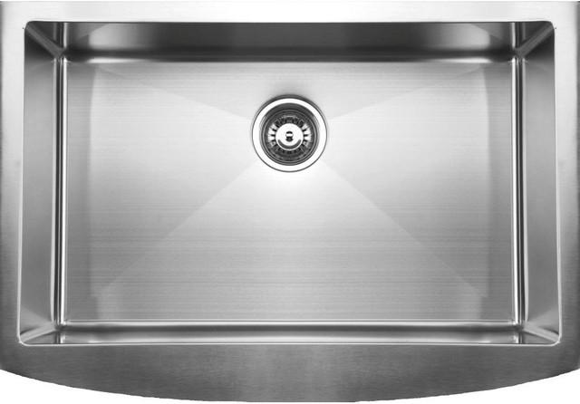 Ukinox Rsfc849 Apron Front Single Bowl Stainless Steel Kitchen Sink.