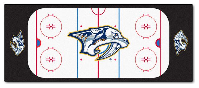Nashville Predators Hockey Rink Runner Rug Contemporary