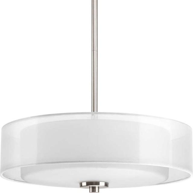 Progress Lighting P369409 Invite 3 Light Semi Flush Mount Ceiling