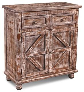 "Keystone 36"" 2-Door Cabinet/Bookcase"