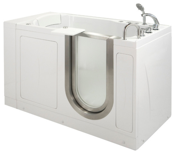 "ella 60""x30"" petite walk-in ada compliant bathtub - contemporary"