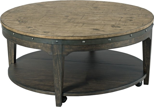 Kincaid Furniture Plank Road Artisans Round Cocktail Table Farmhouse Coffee Tables By Unlimited Furniture Group