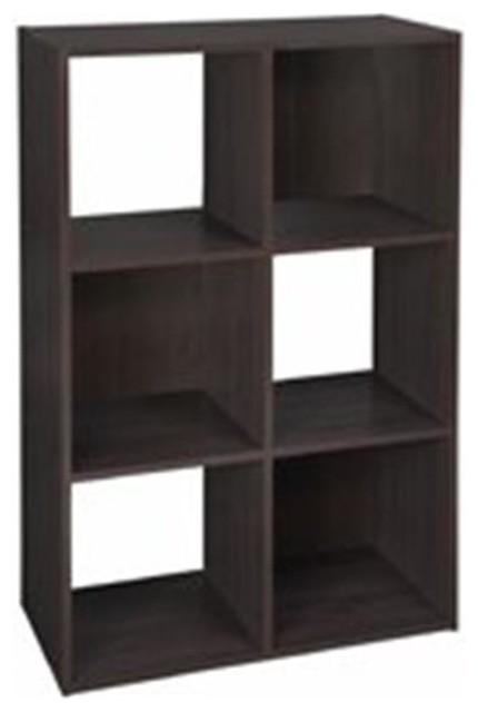 Closetmaid 78815 6-Cube Organizer, Espresso.