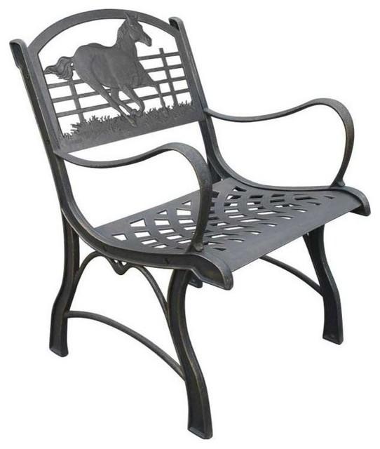 Cardinal Cast Iron Chair Farmhouse Outdoor Lounge