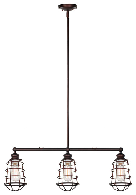Design House Ajax 3 Light Island Light Galvanized Kitchen Island Lighting Houzz