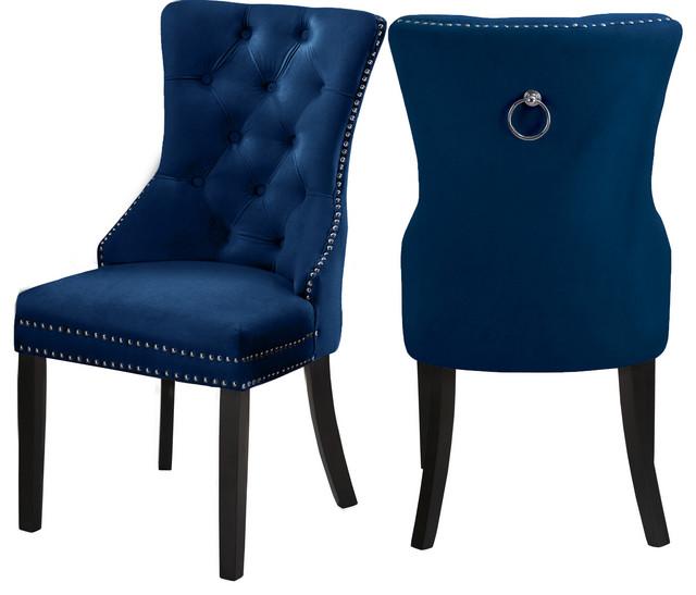 Nikki Velvet Dining Chairs Set Of 2