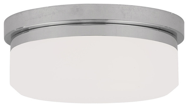 Livex Lighting 2-Light Chrome Ceiling Mount Or Wall Mount.
