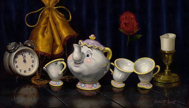 Disney Fine Art Time for Tea by Clinton Hobart, Gallery Wrapped Giclee