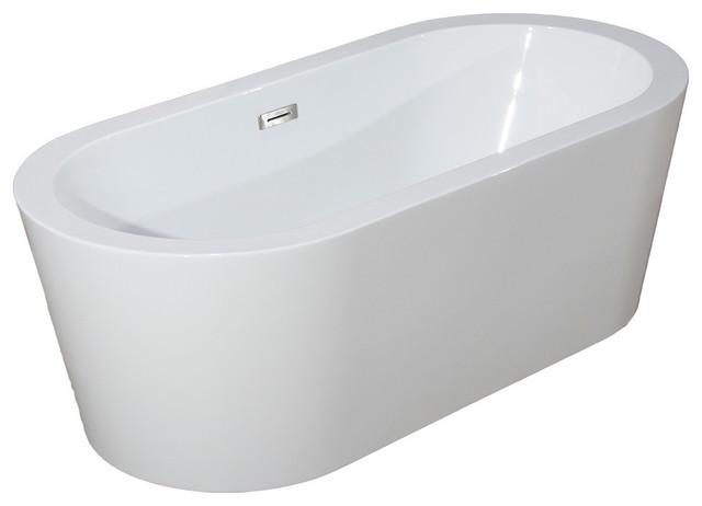 Woodbridge 59 39 39 freestanding bathtub contemporary soaking tub contemporary bathtubs by for Woodbridge 54 modern bathroom freestanding bathtub