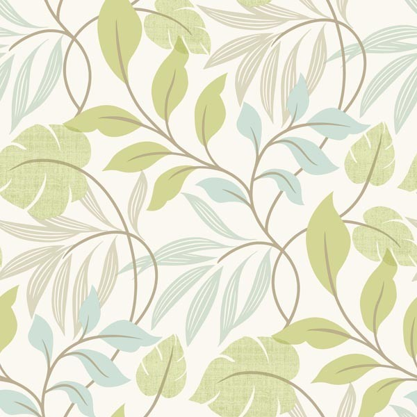 Eden Green Modern Leaf Trail Wallpaper Contemporary By Brewster Home Fashions