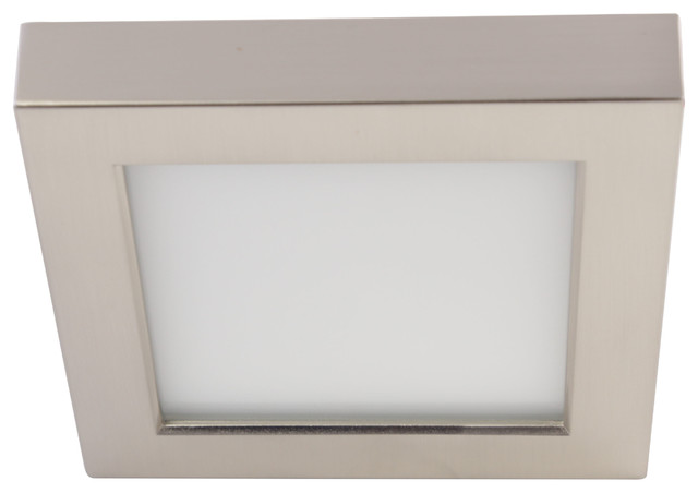 10.5w Led 5.5 Flush Mount, Brushed Nickel.