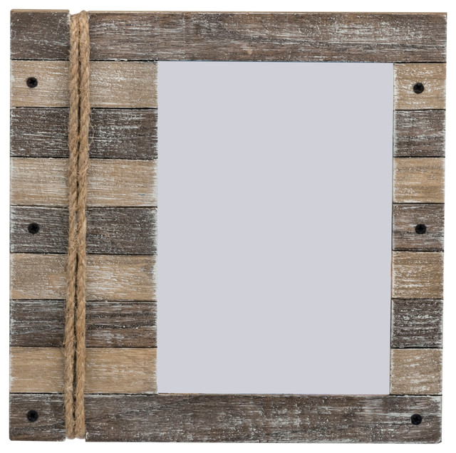 Starboard Plank Frame With Rope Accent, Natural, 8\