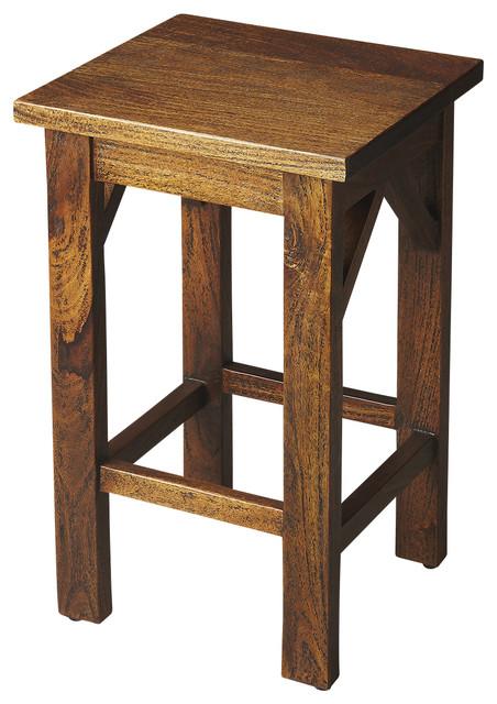 Hubbard Solid Wood Backless Bar Stool