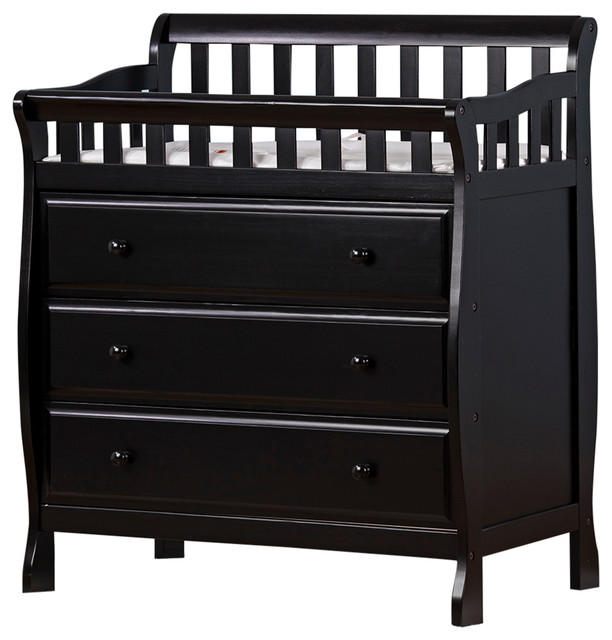 Dream On Me Marcus Changing Table And Dresser, Black Craftsman Changing  Tables