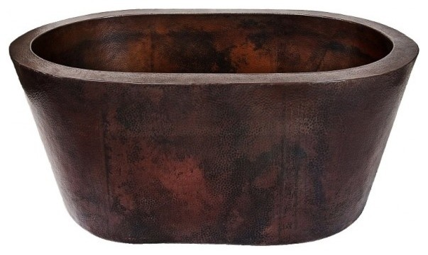 Grande Freestanding Soaker Copper Tub Rustic Bathtubs By World Coppersmith