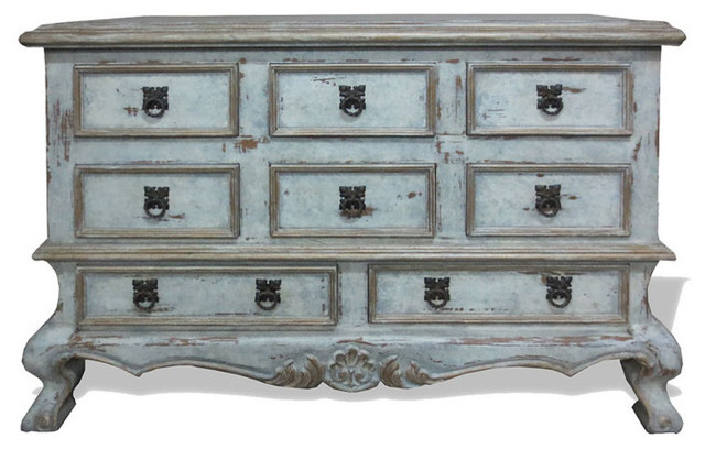 Old World Traditional Dresser Clic Weathered Creams