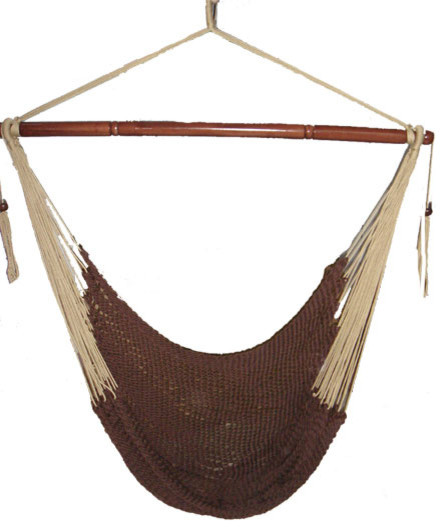 Mayan Hammock Chair, Brown & Beige
