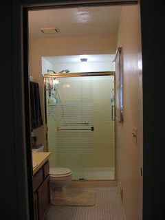 Chrome Lavender Amp Taupe Bathroom Is Done Bunches Of