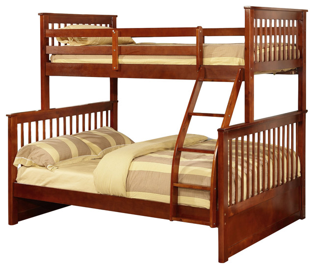 paloma mission bunk bed walnut twin over full
