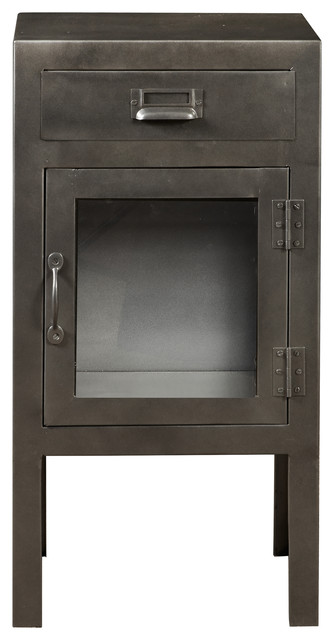 Pulaski Industrial Iron Metal Accent Door Chest - Accent Chests And Cabinets | Houzz