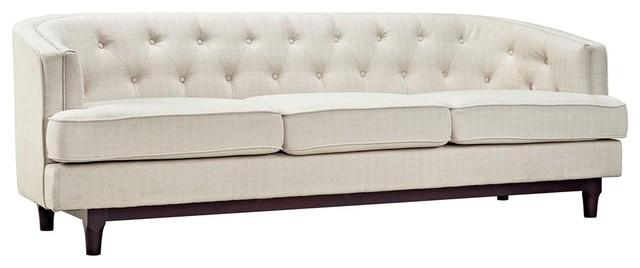 Coast Upholstered Sofa, Beige.