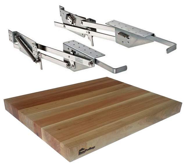"Rev-A-Shelf Ras-Ml-Hdcr Mixer Lift And 1.5""x15""x19"" Wood Shelf Platform"