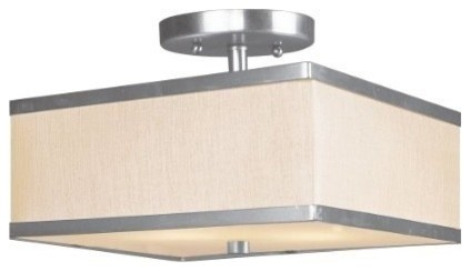Livex Park Ridge Ceiling Mount Brushed Nickel -6347-91.