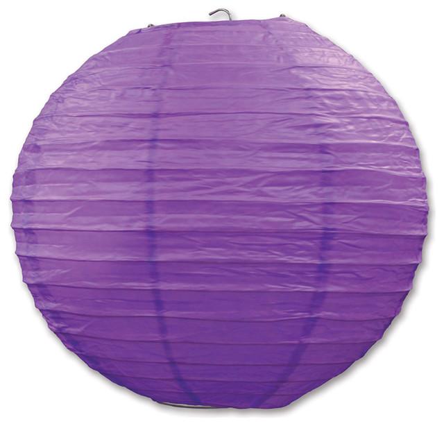 Beistle 9 1/2 Paper Lanterns, Purple, Set Of 18.