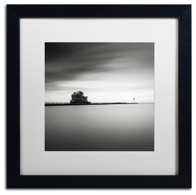 &x27;erieau 2&x27; Matted Framed Canvas Art By Dave Macvicar.