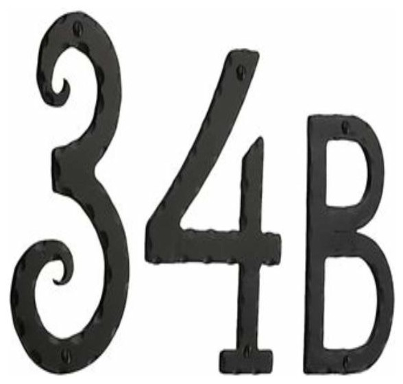 set of 4 powder coated house numbers or letters 2 inch up to 8