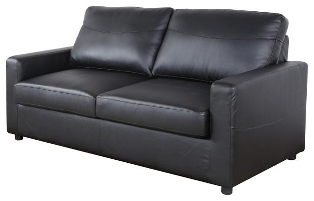 Darren Sleeper Sofa Black Contemporary Sofas