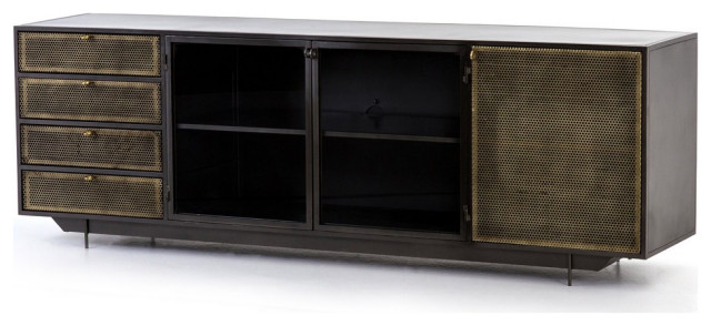 Hartigan Media Console Industrial Entertainment Centers And Tv Stands By Rustic Home Furnishings