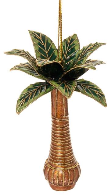 Cloisonne Palm Tree Ornament - Cloisonne Palm Tree Ornament - Traditional - Christmas Ornaments